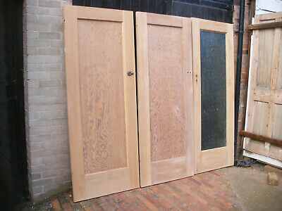 Reclaimed single panel 1930s stripped pine internal / interior doors.
