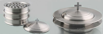 3 Communion Tray Set with Lid & 2 Bread Plates with Lid  FREE SHIP RELIGIOUS EDH