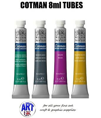 Winsor & Newton Cotman Watercolour 8ml Tubes of Artists Paint aquarelle student