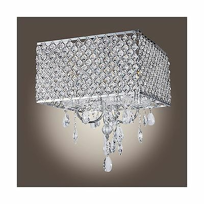 MuseumLight Modern Crystal Chandelier Flush Mount Light Lighting Fixture ... New