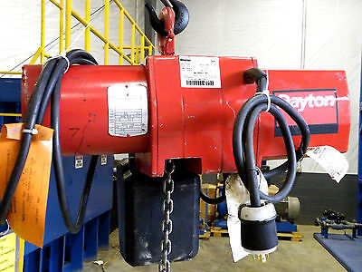 Dayton 1/2 Ton Electric Chain Hoist 14+ foot lift  -  Excellent Cond. guaranteed