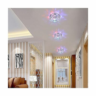 Modern LED Crystal Chandelier Aisle Ceiling Lighting Round Pendant Lamp B... New