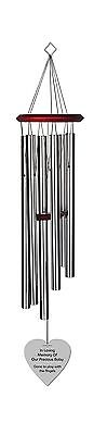 Chimesofyourlife ch-heart-35-silver Child Heart Memorial Wind Chime 35-In... New
