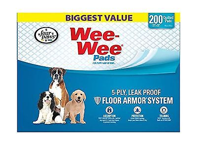 Four Paws 100524305 200-Count Wee-Wee Dog Training Pads Box New