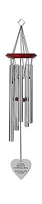 Chimesofyourlife ch-heart-19-silver Child Heart Memorial Wind Chime 19-In... New