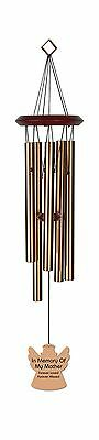 Chimesofyourlife mo-angel-19-bronze Mother Angel Memorial Wind Chime 19-I... New