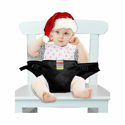 The Washable Portable Travel High Chair Booster Baby Seat with straps Tod... New
