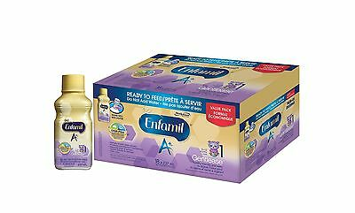 Enfamil A+ Gentlease Ready To Feed Bottles 18 Case 4950 Milliliter New