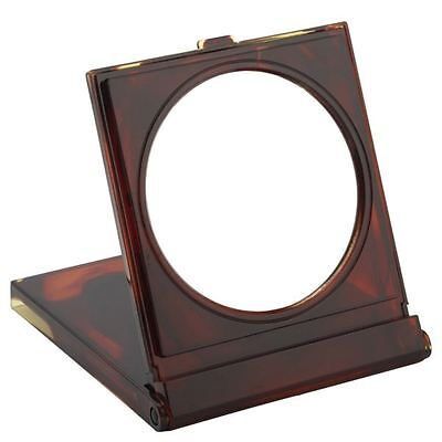 FMG Tortoiseshell Free Standing Travel Mirror in Case 7X Magnifying