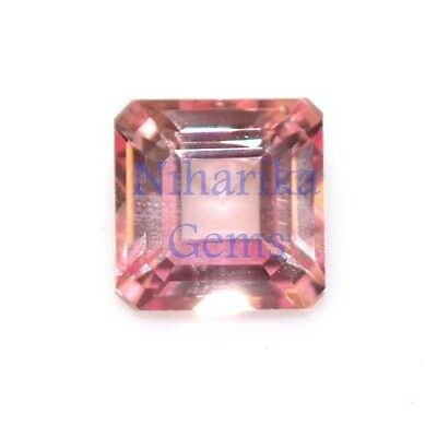 AAA Excellent Cut Lab Created Padparadcha Sapphire Asscher Cut Gemstone 5mm-16mm