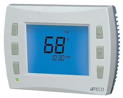 Peco Low Voltage Thermostat, Stages Cool 2, Stages Heat 3 - T8532-001