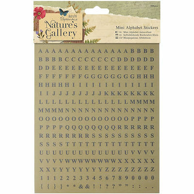 Papermania Nature's Gallery MINI Alphabet Stickers Upper Numbers Scrapbooking