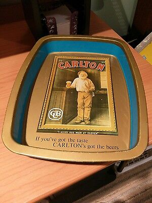 Vintage 1970's Carlton United Breweries Tin Plate Lithographed Advertising Beer