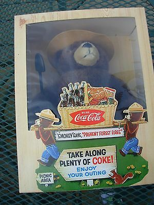 Vintage Coca-Cola /Coke Smokey the Bear In Box~Limited Edition~229 of 400~NICE~