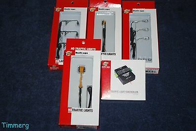 Walthers Lot of 5 HO Traffic Controller, Lamps and Traffic Lights MIB **