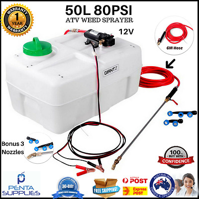 50L ATV Garden Weed Sprayer 12V Pump Spot Driven Water Chemical Tank Farm New