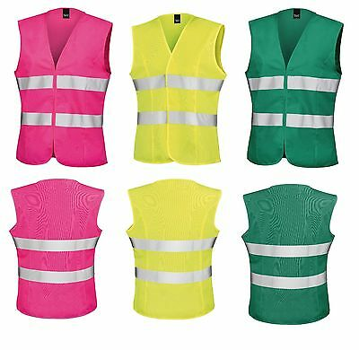 RS334F Hi-Vis Vest Fitted Ladies Girls 2 Band Result Core Safety Work Wear
