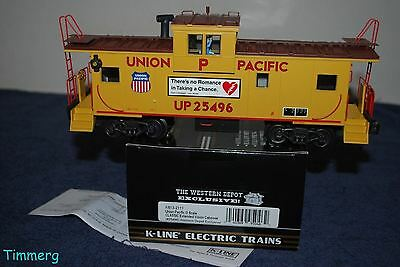 K-Line K613-2111 Union Pacific Extended Vision Caboose Western Depot #25496 MIB*