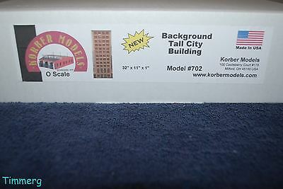 Korber Models #702 O Scale Background Tall City Building  MIB **