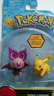 Pokemon Battlefiguren von Tomy Sonitrelle vs Pikachu