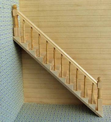 OR599 Dolls house stairs handrail on left ready-built