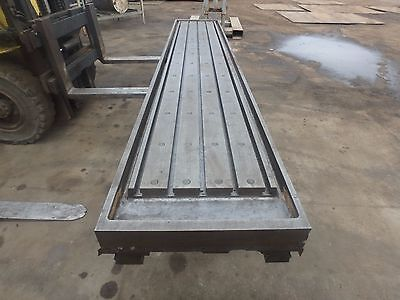 "157"" x 28""x 8"" Steel Welding T-Slot Table Cast Iron Layout Plate Fixture 5 SLOT"
