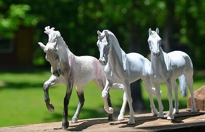 Breyer by Collecta Lot Of 3 Corral Pal Horses! Blank Bodies 4 Customs!! LQQK!