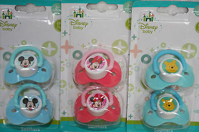 Soothers - Disney Baby - 3+ Months - BPA Free - 2 x Soothers per Packet