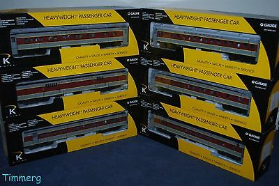 K-Line K-4838B Lackawanna 6 Car Heavyweight Passenger Car Set MIB **