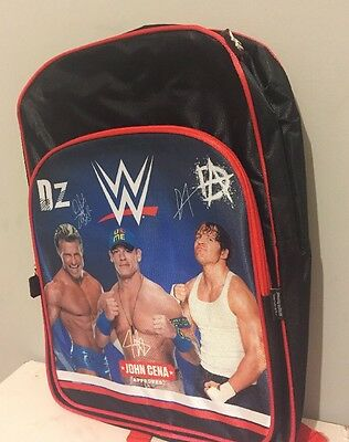 WWE Red & Black Backpack School Bag Travel New Free Postage 43x31cm