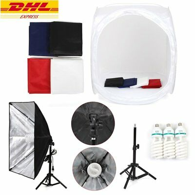 Kit Studio Fotografico 80*80CM Tenda Softbox Lampada 135W Con Softbox Appeso
