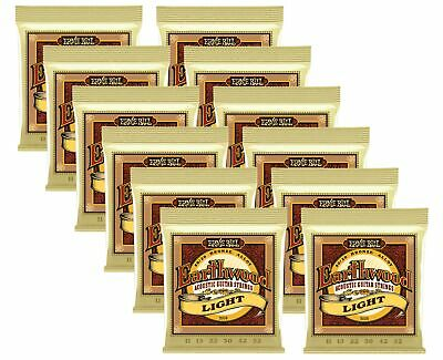 Ernie Ball Earth wood Light Acoustic Strings, Lot of 12, Bronze Alloy, P02004^12