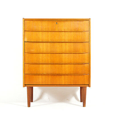 Retro Vintage Scandinavian Danish Design Teak Tall Boy Chest of Drawers 60s 70s