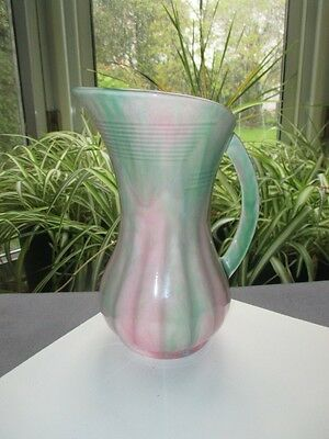 Sylvac Pottery England Pitcher Jug Watermelon Pink Green Melon Rib 6""