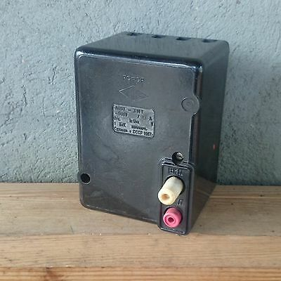 Vintage Industrial Light SWITCH Breaker Power on off Disconnector