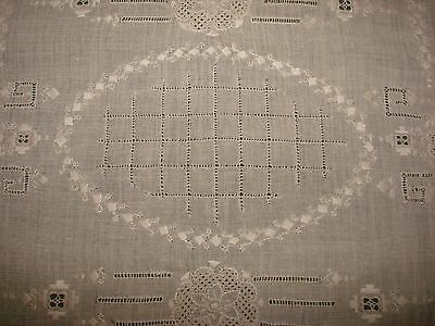 6 Pc. Italian Embroidered Linen Placemats w/ Lace and Drawn Thread - S20