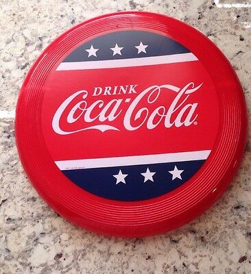 Coca-Cola Frisbee Flyer Disk, Patriotic Red White & Blue Design - NEW
