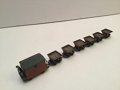 Peco OO-9 Scale Rugga Hopper Wagons x6 Plus Brake Van