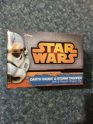 Star Wars Darth Vader Storm Trooper Salt Pepper Shaker Nib