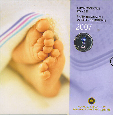 2007 Uncirculated Baby Gift Set  Special Coloured Baby Rattle Quarter