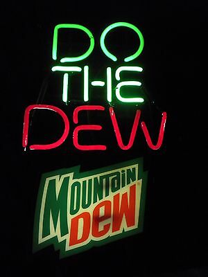 "Mountain Dew 24"" x 24""  neon sign Man Cave/Bar Advertising"