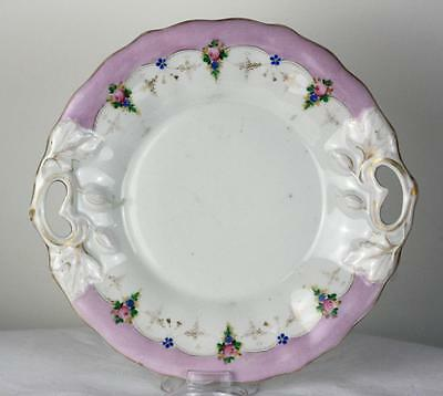 Antique Imperial Russian Porcelain Floral Plater by Kuznetsov Factory