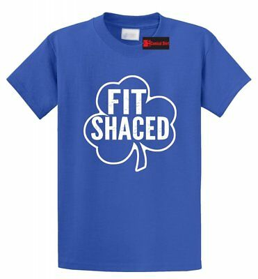 Fit Shaced Funny T Shirt Drinking Alcohol St Patty's Day Bar Beer Tee S-5XL
