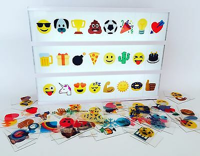 Kmart colour Lightbox Letters / 85 EMOJI Symbols - New /Exclusive Light Box Set