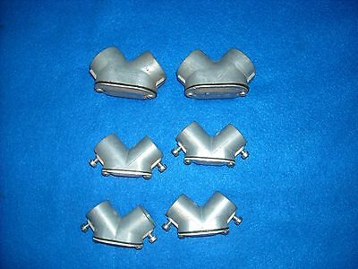 """Lot of 6 HUBBELL 1/2"""" & 3/4"""" Pulling Elbow 90-degree  New"""