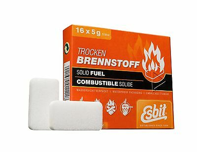 Esbit 1300-Degree Smokeless Solid Fuel Tablets for Backpacking Camping Em... New