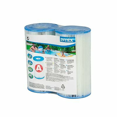 Intex Type A Filter Cartridge for Pools Twin Pack type a 2-pack New