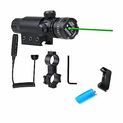 WNOSH Green 532nm Laser Sight Hunting Rifle Dot Scope with On/off Swith P... New