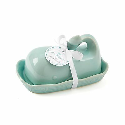 Two's Company 51197 Oh Whale Butter Dish Seafoam New