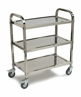 Carlisle UC4031529 Stainless Steel Knockdown Utility Cart 400-Lb Capacity... New